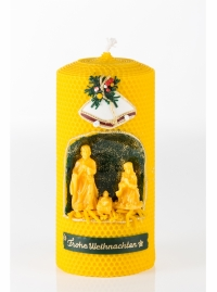 Kerze Frohe Weihnachten